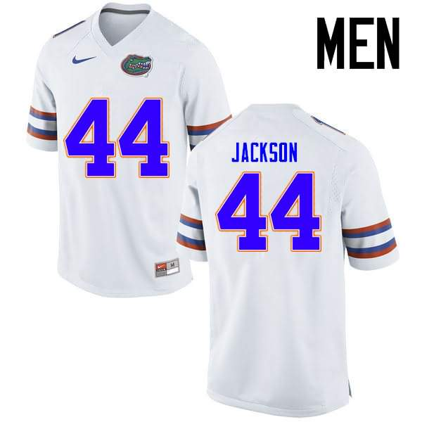 Men's Florida Gators #44 Rayshad Jackson White Nike NCAA College Football Jersey XLK421SJ