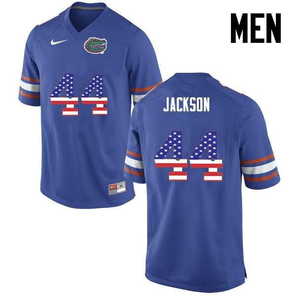 Men's Florida Gators #44 Rayshad Jackson USA Flag Fashion Nike NCAA College Football Jersey BWU538RJ