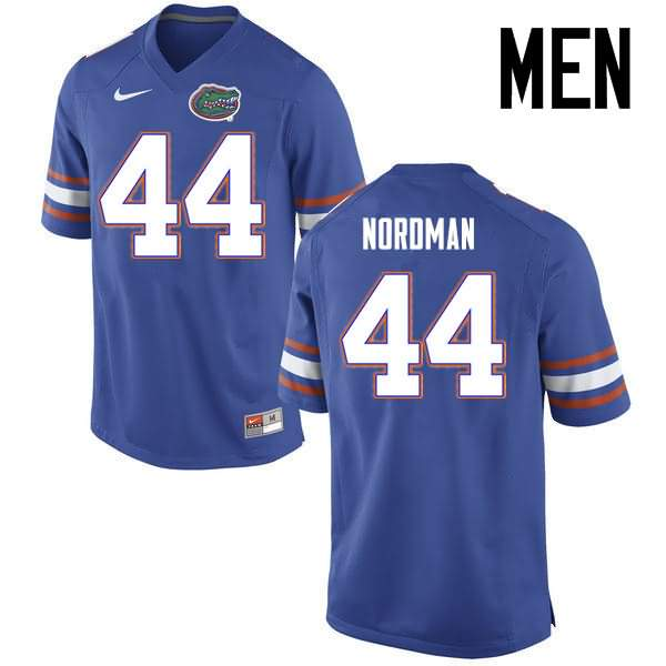 Men's Florida Gators #44 Tucker Nordman Blue Nike NCAA College Football Jersey WYB726CJ
