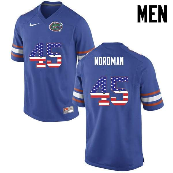 Men's Florida Gators #45 Charles Nordman USA Flag Fashion Nike NCAA College Football Jersey AJI880HJ