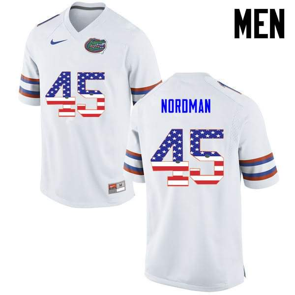 Men's Florida Gators #45 Charles Nordman USA Flag Fashion Nike NCAA College Football Jersey WTO750IJ