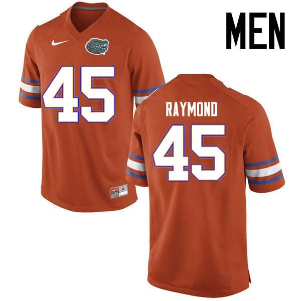 Men's Florida Gators #45 R.J. Raymond Orange Nike NCAA College Football Jersey CBF330TJ