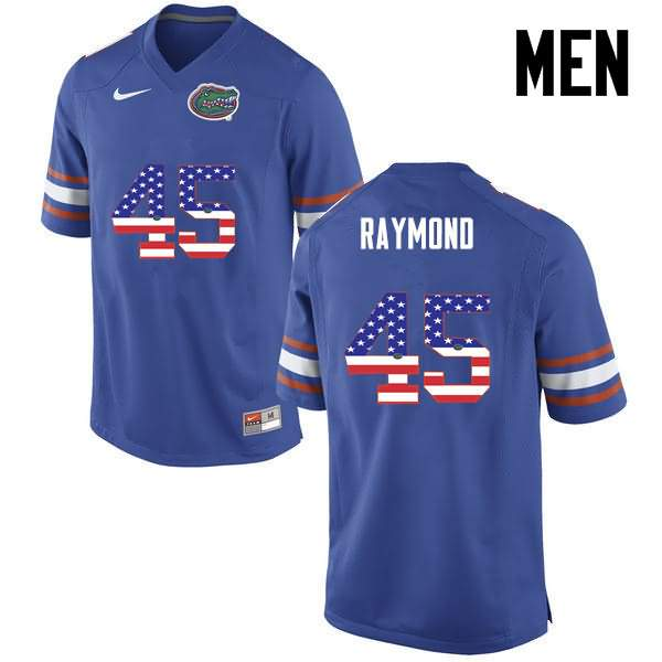 Men's Florida Gators #45 R.J. Raymond USA Flag Fashion Nike NCAA College Football Jersey TMH210SJ