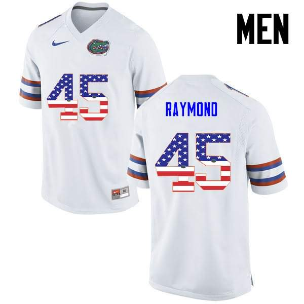 Men's Florida Gators #45 R.J. Raymond USA Flag Fashion Nike NCAA College Football Jersey VQF626WJ
