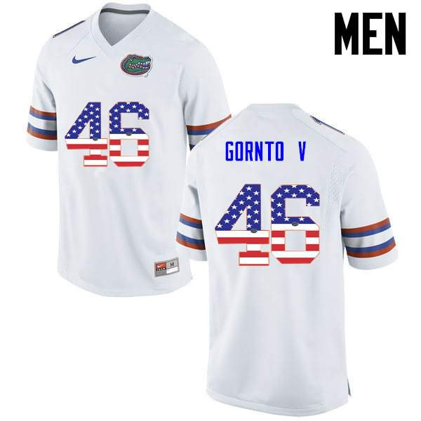 Men's Florida Gators #46 Harry Gornto V USA Flag Fashion Nike NCAA College Football Jersey YUW545PJ