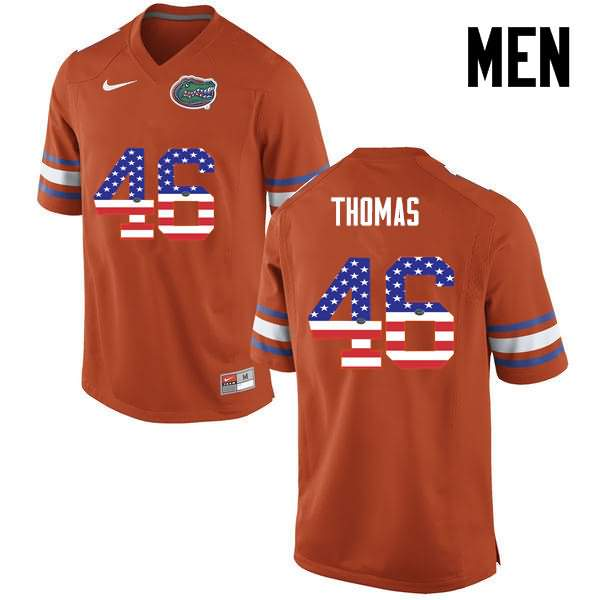 Men's Florida Gators #46 Will Thomas USA Flag Fashion Nike NCAA College Football Jersey EPH170VJ