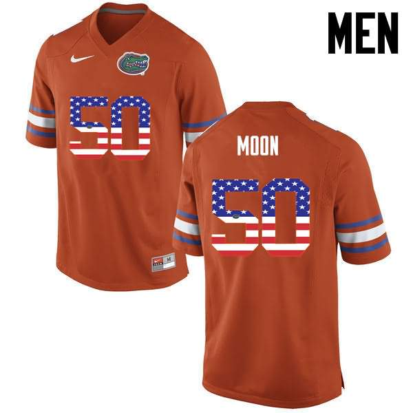 Men's Florida Gators #50 Jeremiah Moon USA Flag Fashion Nike NCAA College Football Jersey YML862VJ