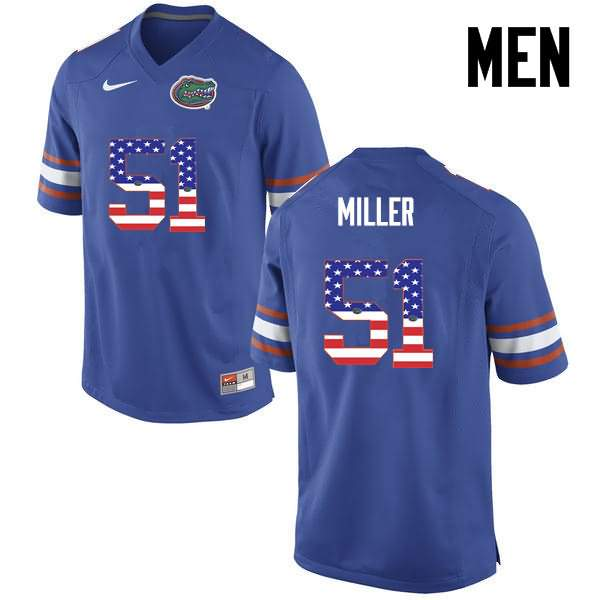 Men's Florida Gators #51 Ventrell Miller USA Flag Fashion Nike NCAA College Football Jersey OXW417YJ