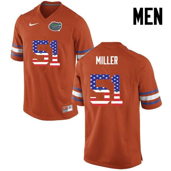 Men's Florida Gators #51 Ventrell Miller USA Flag Fashion Nike NCAA College Football Jersey JFC582DJ