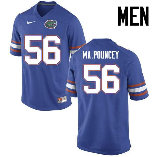 Men's Florida Gators #56 Maurkice Pouncey Blue Nike NCAA College Football Jersey YYL056YJ