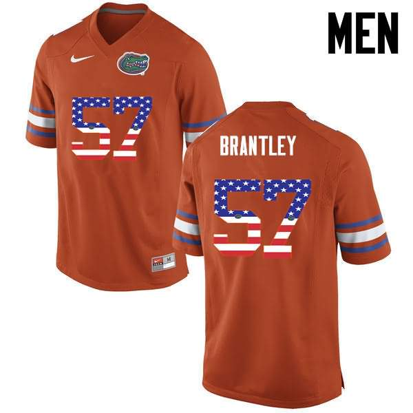 Men's Florida Gators #57 Caleb Brantley USA Flag Fashion Nike NCAA College Football Jersey GLP728KJ