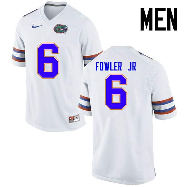 Men's Florida Gators #6 Dante Fowler Jr. White Nike NCAA College Football Jersey KVS874WJ