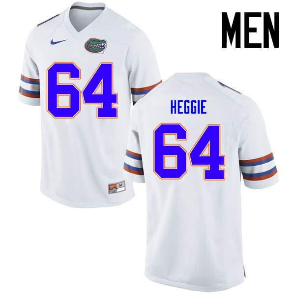 Men's Florida Gators #64 Tyler Jordan White Nike NCAA College Football Jersey HZT711XJ