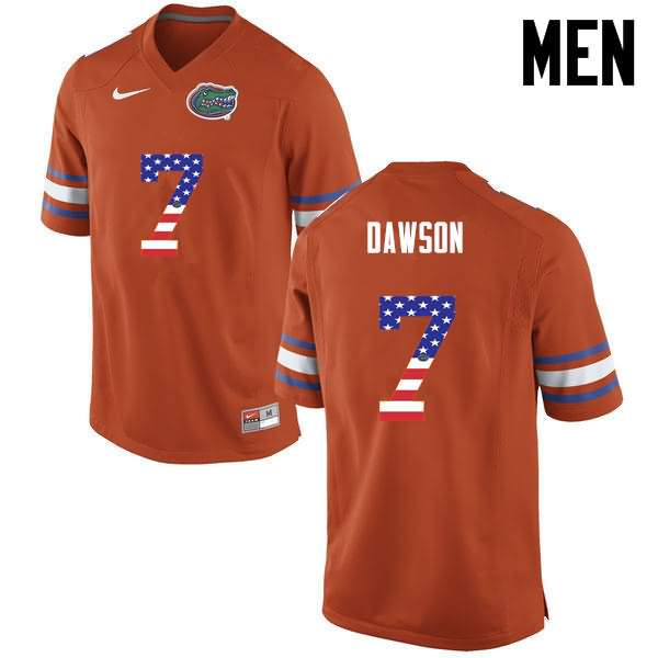 Men's Florida Gators #7 Duke Dawson USA Flag Fashion Nike NCAA College Football Jersey BEJ311JJ