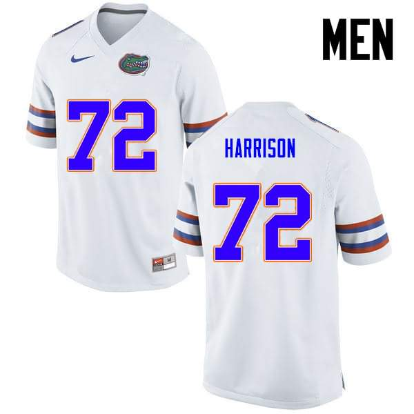 Men's Florida Gators #72 Jonotthan Harrison White Nike NCAA College Football Jersey COM154DJ