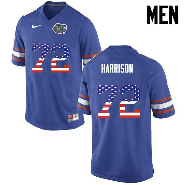 Men's Florida Gators #72 Jonotthan Harrison USA Flag Fashion Nike NCAA College Football Jersey BWC743SJ