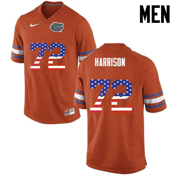 Men's Florida Gators #72 Jonotthan Harrison USA Flag Fashion Nike NCAA College Football Jersey WHP303SJ