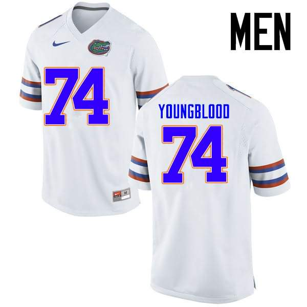 Men's Florida Gators #74 Jack Youngblood White Nike NCAA College Football Jersey XXW248UJ