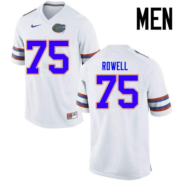 Men's Florida Gators #75 Tanner Rowell White Nike NCAA College Football Jersey RJF002TJ