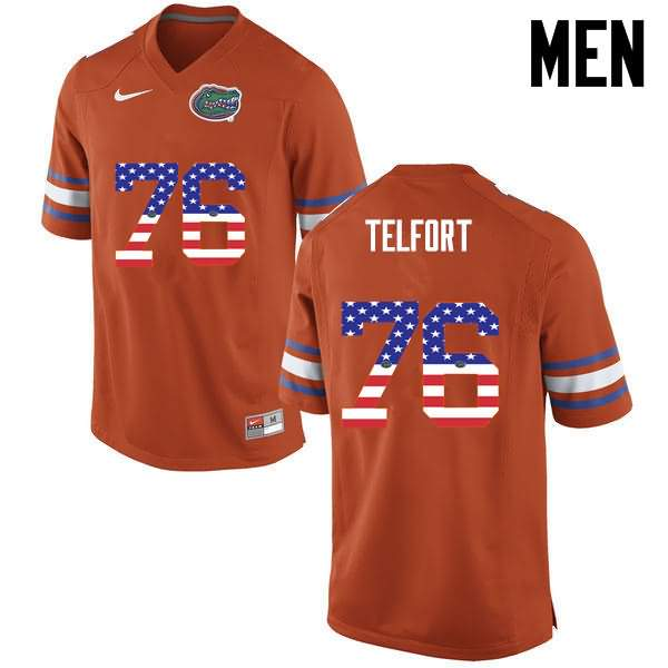 Men's Florida Gators #76 Kadeem Telfort USA Flag Fashion Nike NCAA College Football Jersey BFI817JJ