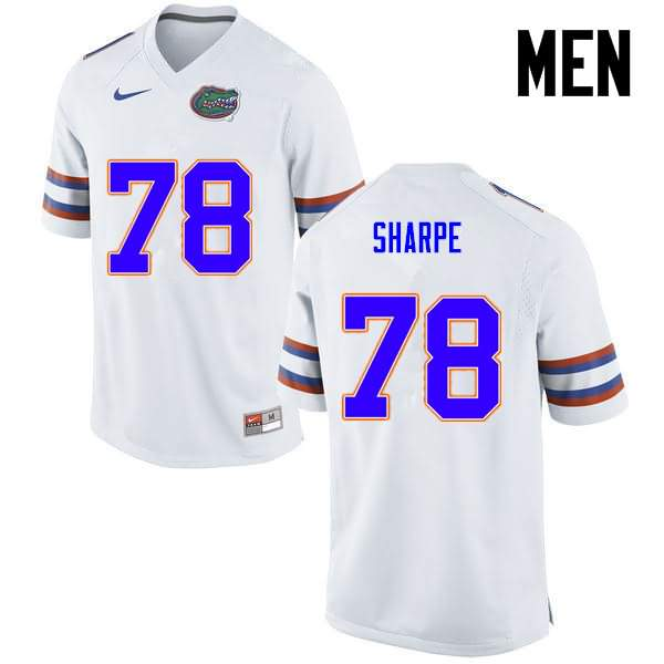 Men's Florida Gators #78 David Sharpe White Nike NCAA College Football Jersey BHC314PJ