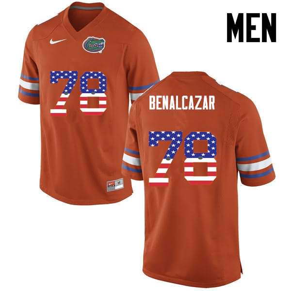 Men's Florida Gators #78 Ricardo Benalcazar USA Flag Fashion Nike NCAA College Football Jersey YXP170IJ