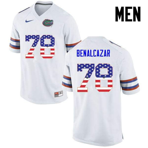 Men's Florida Gators #78 Ricardo Benalcazar USA Flag Fashion Nike NCAA College Football Jersey OYY675KJ