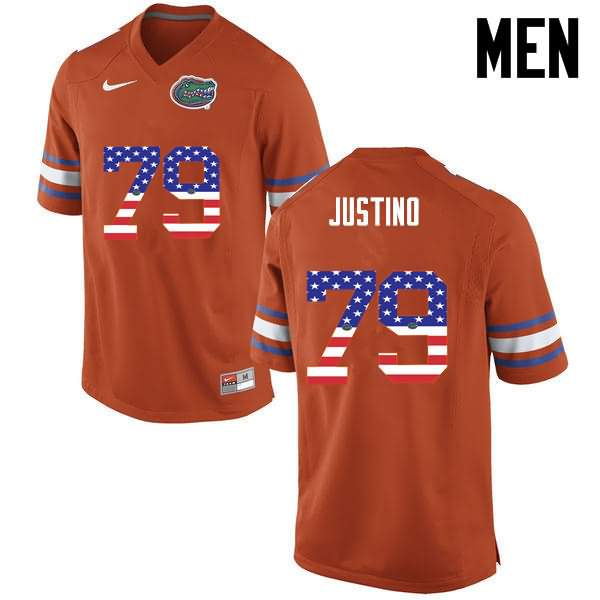 Men's Florida Gators #79 Daniel Justino USA Flag Fashion Nike NCAA College Football Jersey FRV171BJ
