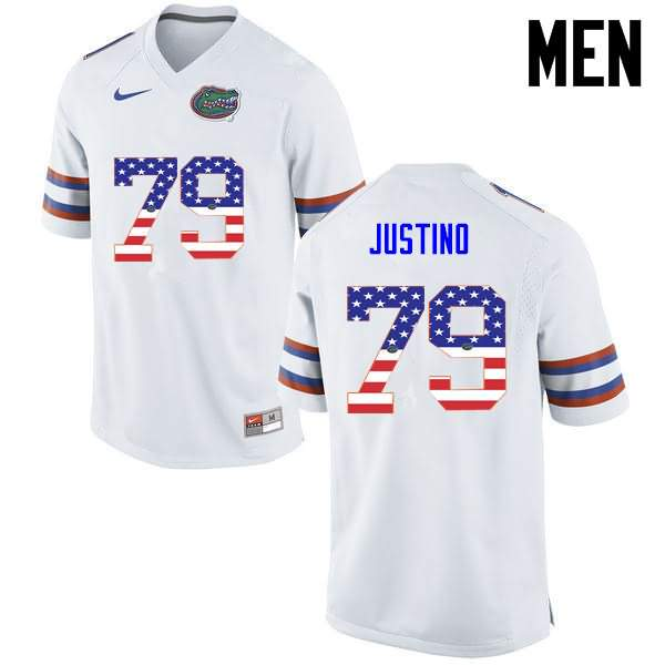 Men's Florida Gators #79 Daniel Justino USA Flag Fashion Nike NCAA College Football Jersey OBA148IJ
