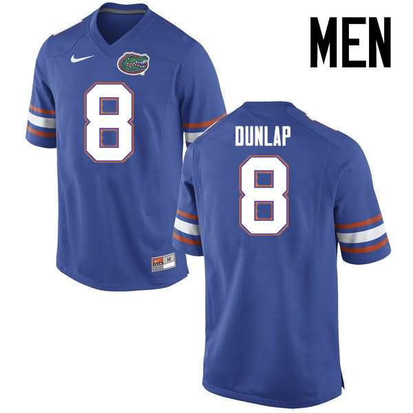 Men's Florida Gators #8 Carlos Dunlap Blue Nike NCAA College Football Jersey TRF504QJ