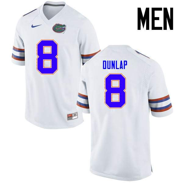Men's Florida Gators #8 Carlos Dunlap White Nike NCAA College Football Jersey WQG221MJ