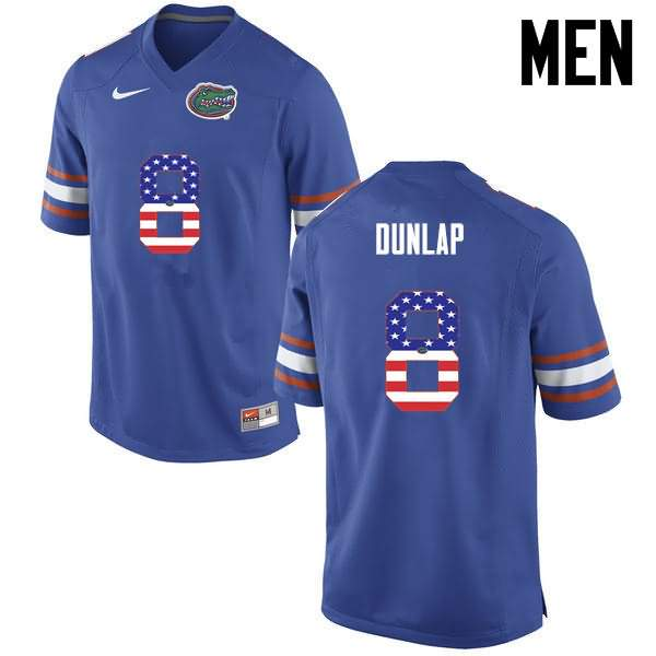 Men's Florida Gators #8 Carlos Dunlap USA Flag Fashion Nike NCAA College Football Jersey RBZ335KJ