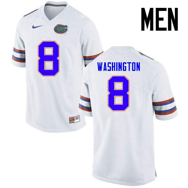 Men's Florida Gators #8 Nick Washington White Nike NCAA College Football Jersey CGN157XJ