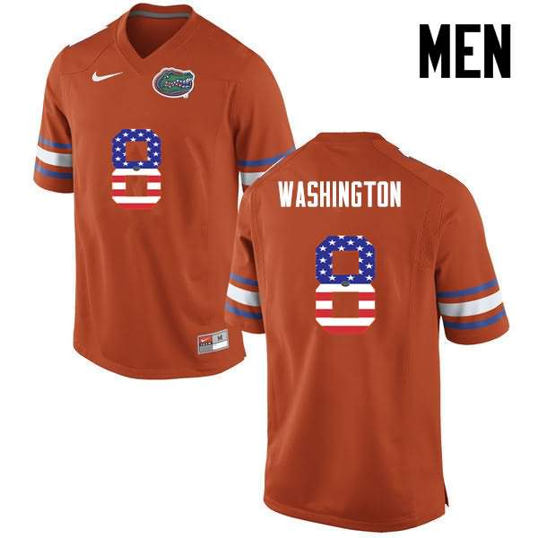Men's Florida Gators #8 Nick Washington USA Flag Fashion Nike NCAA College Football Jersey WBI708NJ