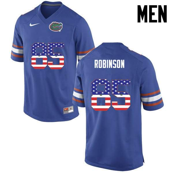 Men's Florida Gators #85 James Robinson USA Flag Fashion Nike NCAA College Football Jersey PTU757AJ