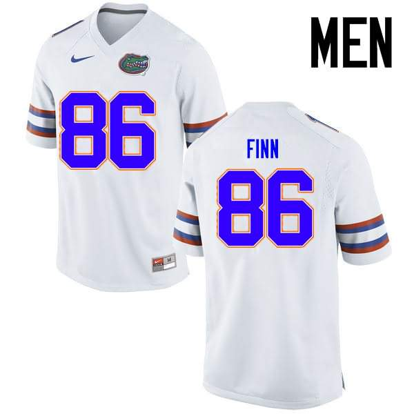 Men's Florida Gators #86 Jacob Finn White Nike NCAA College Football Jersey HGU110LJ