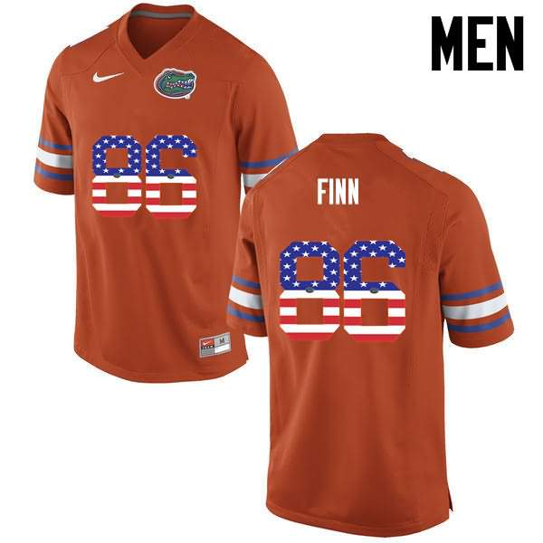 Men's Florida Gators #86 Jacob Finn USA Flag Fashion Nike NCAA College Football Jersey HNU603MJ