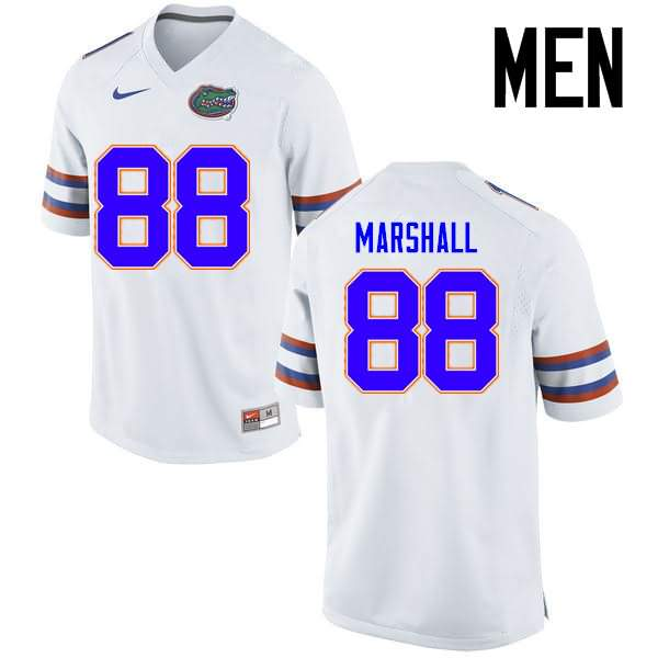 Men's Florida Gators #88 Wilber Marshall White Nike NCAA College Football Jersey EHG543XJ