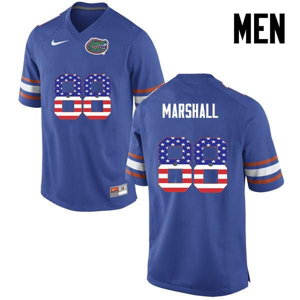 Men's Florida Gators #88 Wilber Marshall USA Flag Fashion Nike NCAA College Football Jersey ZNA488DJ