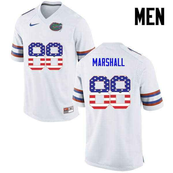 Men's Florida Gators #88 Wilber Marshall USA Flag Fashion Nike NCAA College Football Jersey QIG624HJ