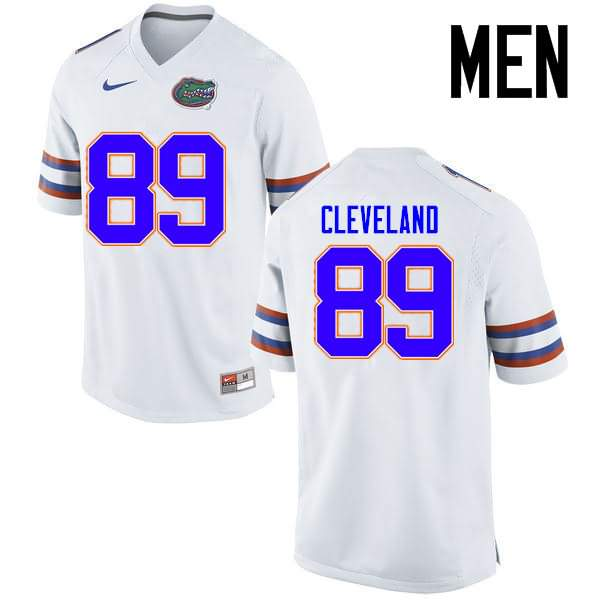 Men's Florida Gators #89 Tyrie Cleveland White Nike NCAA College Football Jersey FWM507MJ