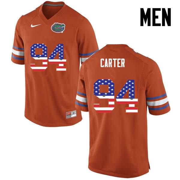 Men's Florida Gators #94 Zachary Carter USA Flag Fashion Nike NCAA College Football Jersey NKP781PJ