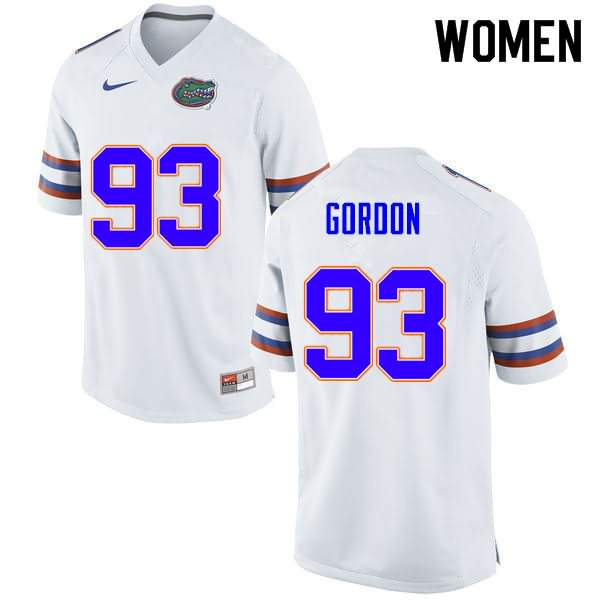 Women's Florida Gators #93 Moses Gordon White Nike NCAA College Football Jersey CAJ272SJ