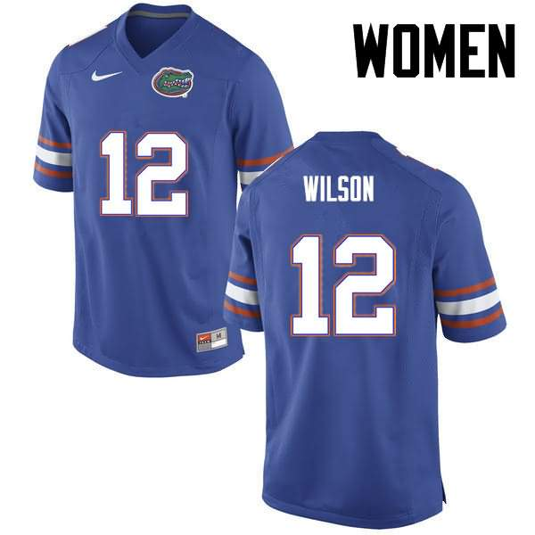 Women's Florida Gators #12 Quincy Wilson Blue Nike NCAA College Football Jersey WGR713TJ