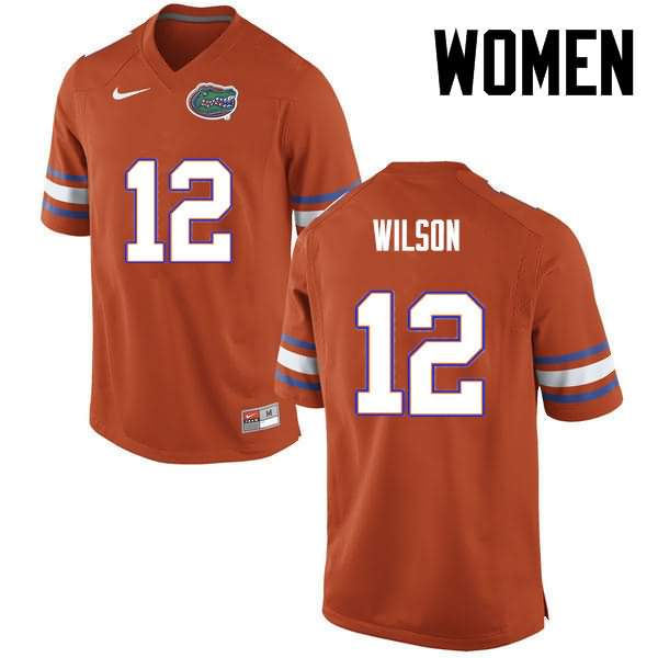 Women's Florida Gators #12 Quincy Wilson Orange Nike NCAA College Football Jersey LFS166WJ