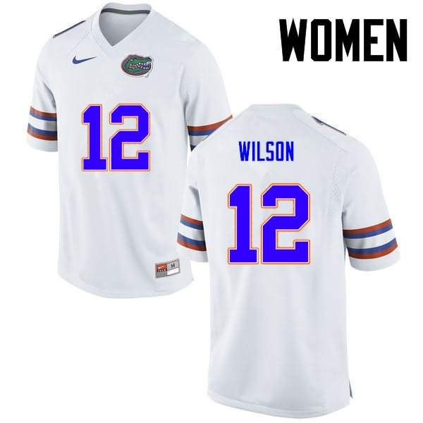 Women's Florida Gators #12 Quincy Wilson White Nike NCAA College Football Jersey OGO434JJ