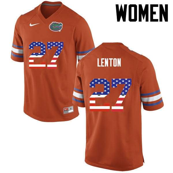 Women's Florida Gators #27 Quincy Lenton USA Flag Fashion Nike NCAA College Football Jersey JSR163IJ