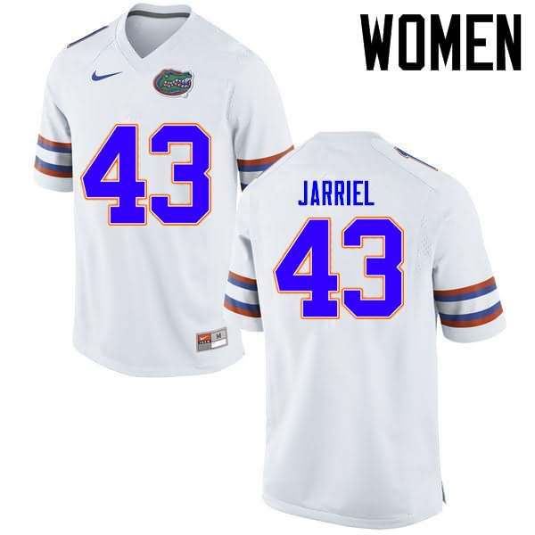 Women's Florida Gators #43 Glenn Jarriel White Nike NCAA College Football Jersey DUO602CJ