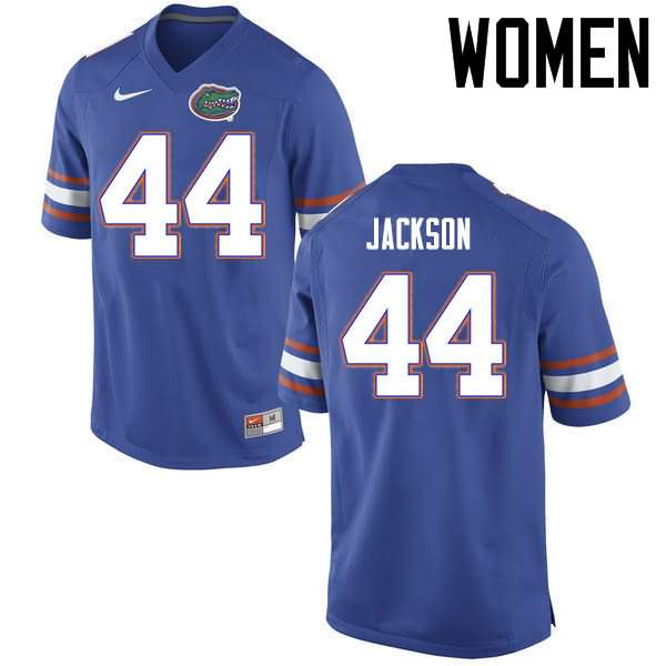 Women's Florida Gators #44 Rayshad Jackson Blue Nike NCAA College Football Jersey XBY008OJ