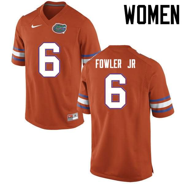 Women's Florida Gators #6 Dante Fowler Jr. Orange Nike NCAA College Football Jersey FSO020GJ